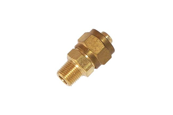 Quot m npt compression fitting for od nylon air tube