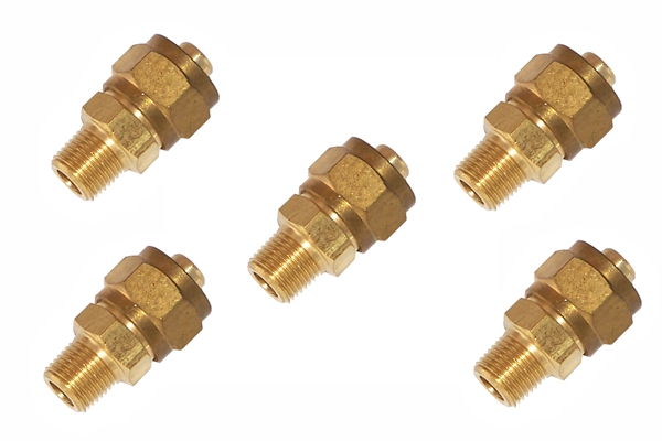 Brass compression fitting quot male npt to o d