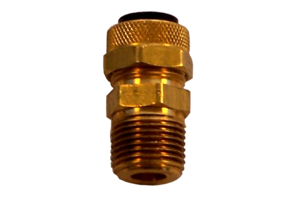 Compression fitting quot m npt to o d nylon air