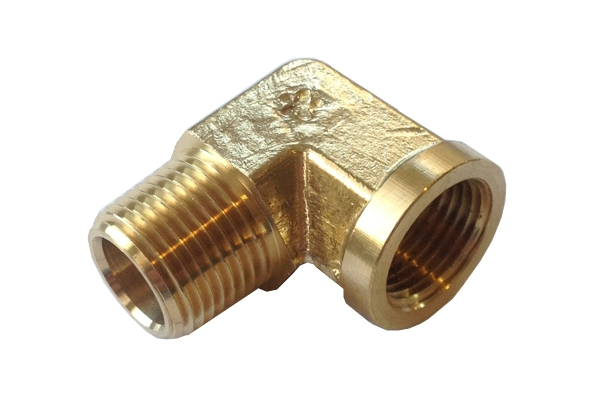 Brass degree elbow fitting quot female npt to