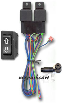 all kits come with a 2-way rocker switch, relays, wiring and the plug-in  connectors for linear actuators  use it to control your tonneau cover, amp  rack,